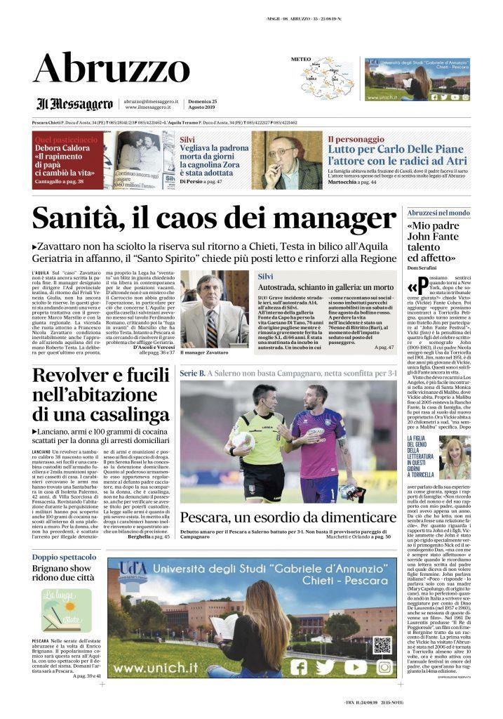 Messaggero Abruzzo 25.8