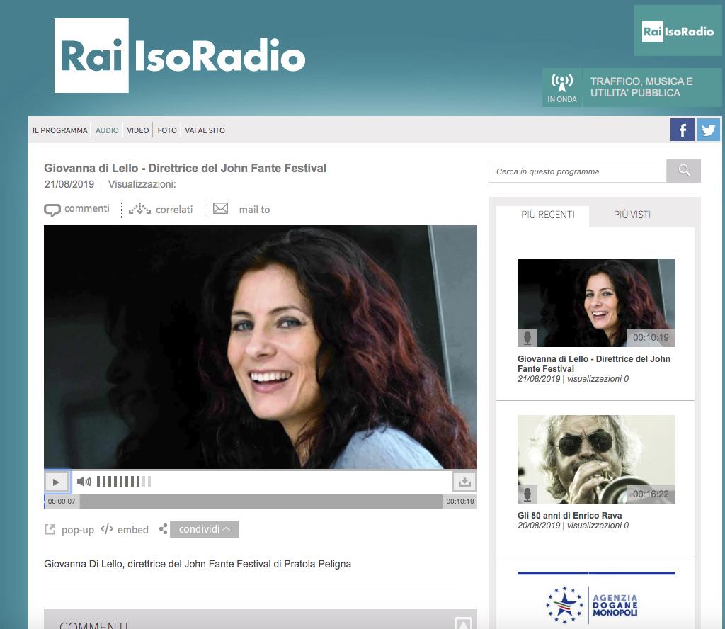 RADIO - ISORADIO -21.8-Giovanna-Di-Lello